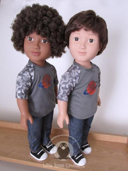 """18/"""" Doll African American SCHOOL BOY Clothes Set for My Life as American Girl AA"""