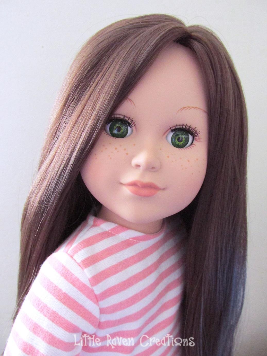 """GINGER BLONDE 11"""" Custom Doll Wig for 18/"""" American Girl Dolls Gotz My Life OG"""